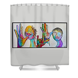 Mother And Father I Love You Shower Curtain