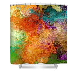 Mother Earth - Abstract Art Shower Curtain by Jaison Cianelli