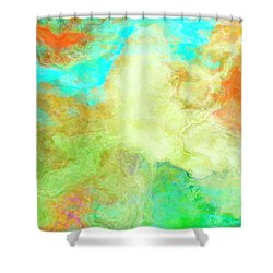 Mother Earth - Abstract Art - Triptych 1 Of 3 Shower Curtain