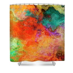 Mother Earth - Abstract Art - Triptych 2 Of 3 Shower Curtain