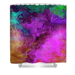 Mother Earth - Abstract Art - Triptych 3 Of 3 Shower Curtain