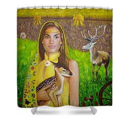 Mother Goddess Ker - Lammas Shower Curtain
