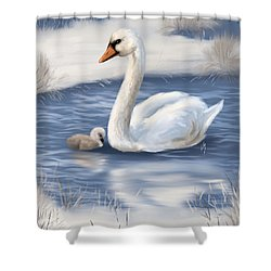 Shower Curtain featuring the painting Mother Love by Veronica Minozzi