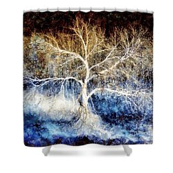 Mother Natures Dance Shower Curtain by Janine Riley