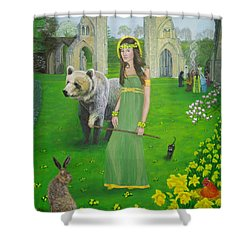 Mother Of Fire Goddess Artha - Spring Equinox Shower Curtain