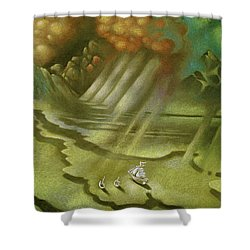 Mother Ship Shower Curtain