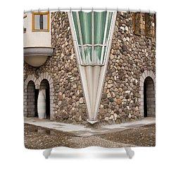 Mother Teresa House Shower Curtain by Rae Tucker
