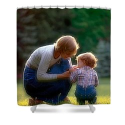 Mother With Kid Shower Curtain
