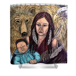 Motherhood-guardian Spirits Shower Curtain
