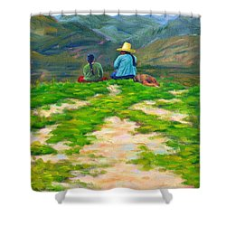 Motherly Advice, Peru Impression Shower Curtain