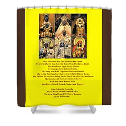 Mothers Are Heaven On Earth Shower Curtain