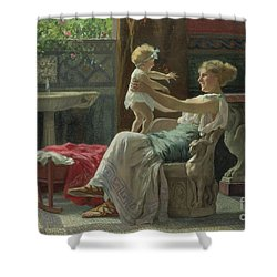 Mother's Darling  Shower Curtain by Zocchi Guglielmo