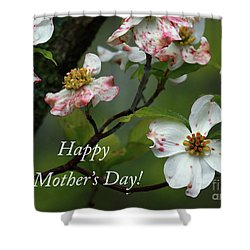 Shower Curtain featuring the photograph Mother's Day Dogwood by Douglas Stucky