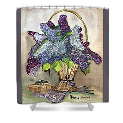 Mothers Day Lilacs Shower Curtain