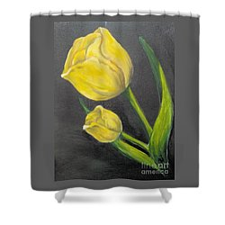 Shower Curtain featuring the painting Mother's Day by Saundra Johnson