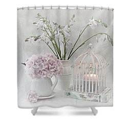 Mother...tell Me Your Memories Shower Curtain by Sherry Hallemeier