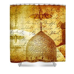 Moths And Mosques Shower Curtain by Tammy Wetzel