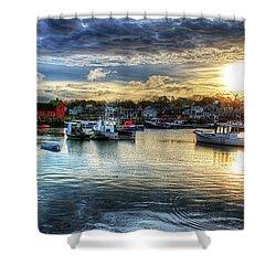Motif #1 Sunrise Rockport Ma Shower Curtain