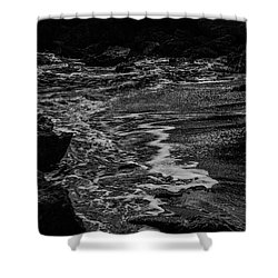 Motion In Black And White Shower Curtain