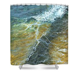 Shower Curtain featuring the painting Motion Of The Ocean by Darice Machel McGuire