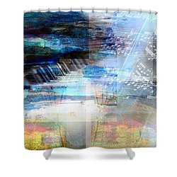 Motivational Piano Shower Curtain