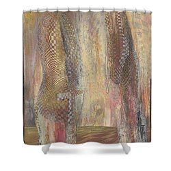 Motives Lay Bare Shower Curtain