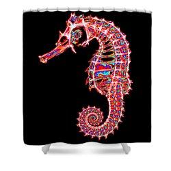 Motley Hippocampus Shower Curtain