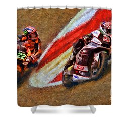 Moto2 Johann Zarco Leads Sam Lowes Shower Curtain
