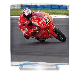 Moto Grand Prix 2015 Shower Curtain by Blair Stuart