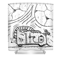 Moto Mouse Shower Curtain