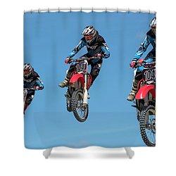 Motocross Riders Shower Curtain