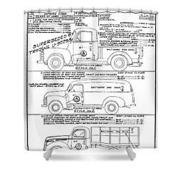 Motor Vehicles Shower Curtain