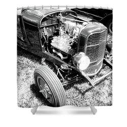 Motor Wheel Bw Shower Curtain