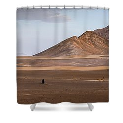 Motorcycles In Persian Desert Shower Curtain
