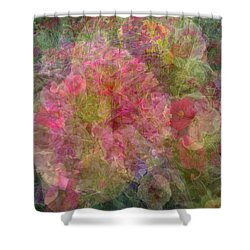 Mottled Pink Collage Pop Shower Curtain