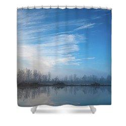 Mottled Sky Shower Curtain