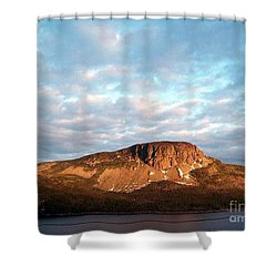 Shower Curtain featuring the photograph Mottled Sky Of Late Spring by Barbara Griffin