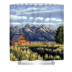 Moulton Barn At The Grand Tetons Shower Curtain