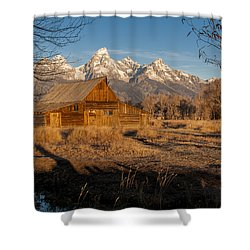 Shower Curtain featuring the photograph Moulton Barn by Gary Lengyel
