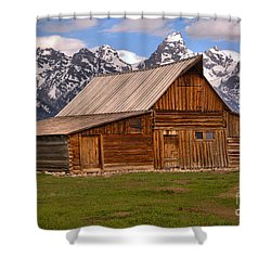 Moulton Barn Spring Landscape Shower Curtain by Adam Jewell