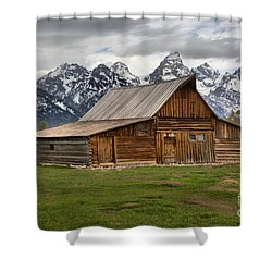 Moulton Barn Spring Storms Shower Curtain by Adam Jewell