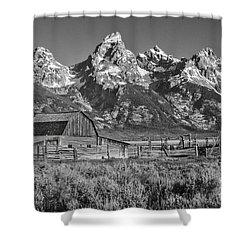 Moulton Cabin - Grand Tetons II Shower Curtain