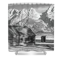 Shower Curtain featuring the photograph Moulton Homestead - Bunkhouse by Colleen Coccia