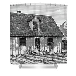 Shower Curtain featuring the photograph Moulton Homestead - Pink House by Colleen Coccia