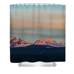 Mount Aragats, The Highest Mountain Of Armenia, At Sunset Under Beautiful Clouds Shower Curtain