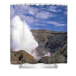 Shower Curtain featuring the photograph Mount Aso by Travel Pics