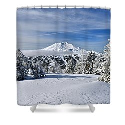 Mount Bachelor Winter Shower Curtain