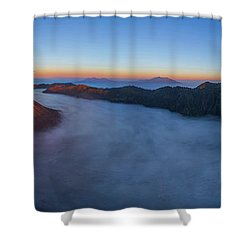 Mount Bromo Scenic View Shower Curtain