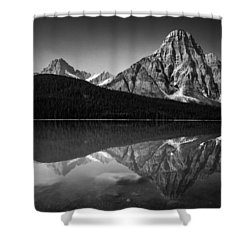 Mount Chephren Reflection Shower Curtain