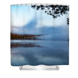 Shower Curtain featuring the photograph Mount Chocorua Peeks Above The Fog by Jeff Folger